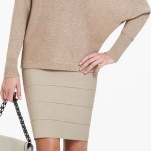 BCBGMAXAZRIA Bandage Skirt in Nude